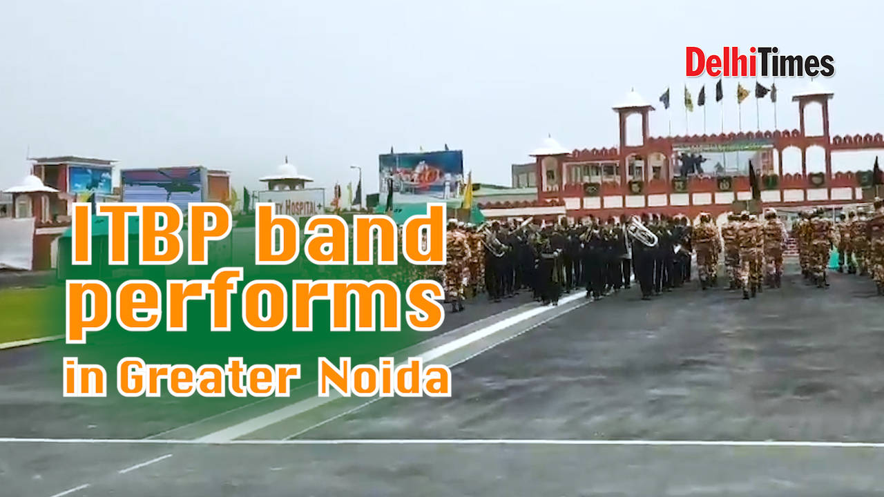 ITBP band performs in Greater Noida