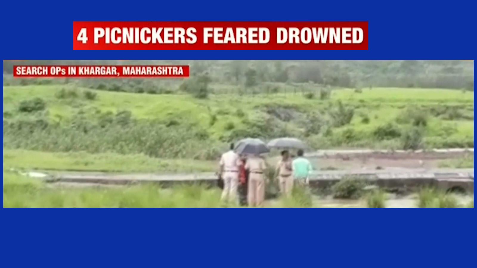 Navi Mumbai: Four college students drown at Kharghar waterfall