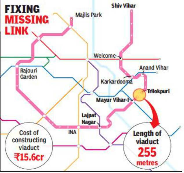 Bridge to end Delhi Metro's Pink Line gap by mid-2020