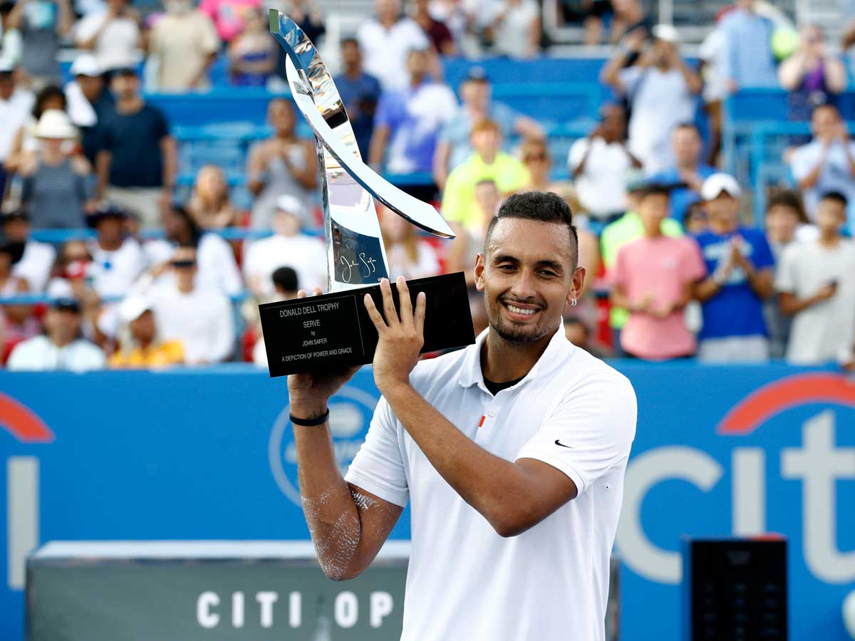 Nick Kyrgios: Nick Kyrgios fights off back spasms to win Citi Open