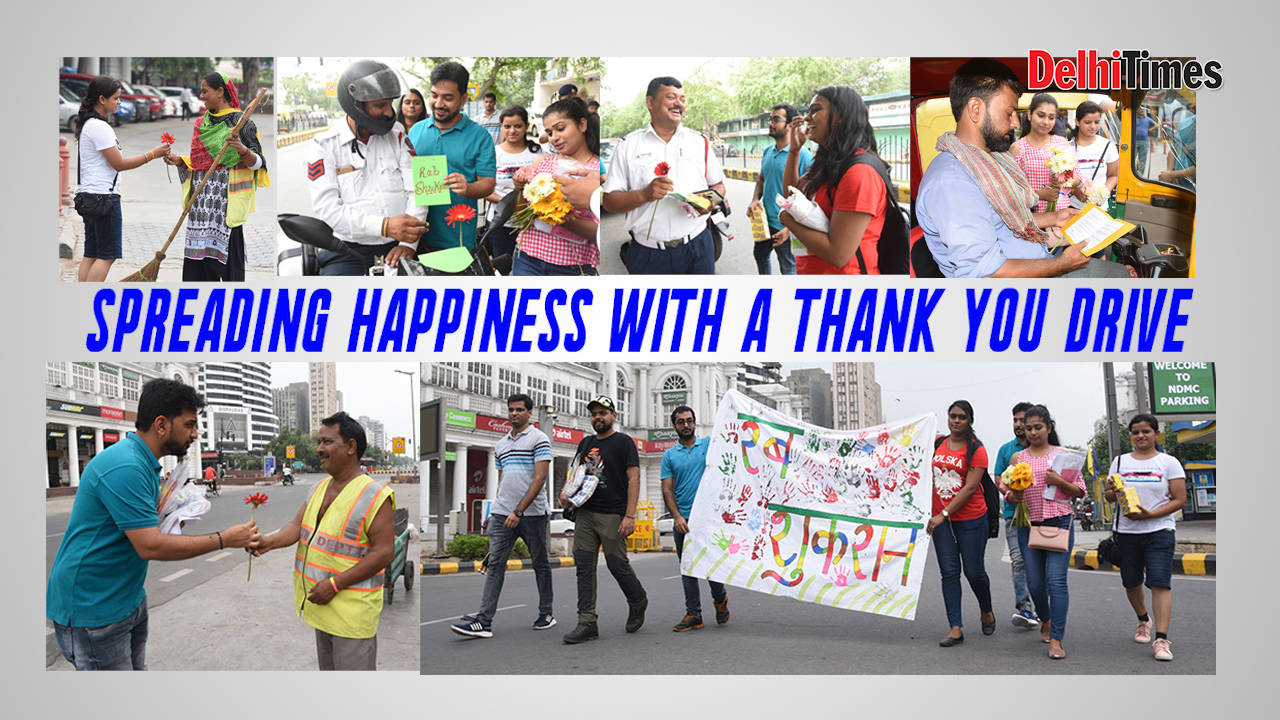Spreading happiness with a 'Thank You' drive
