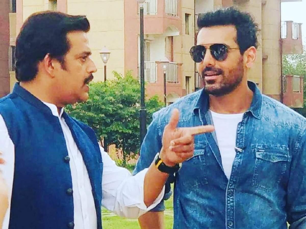 Bhojpuri star Ravi Kishan shares BTS photos with John Abraham from