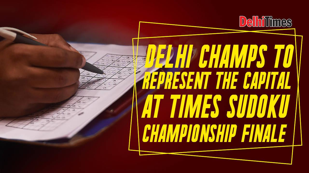 Delhi champs to represent the capital at Times Sudoku Championship finale