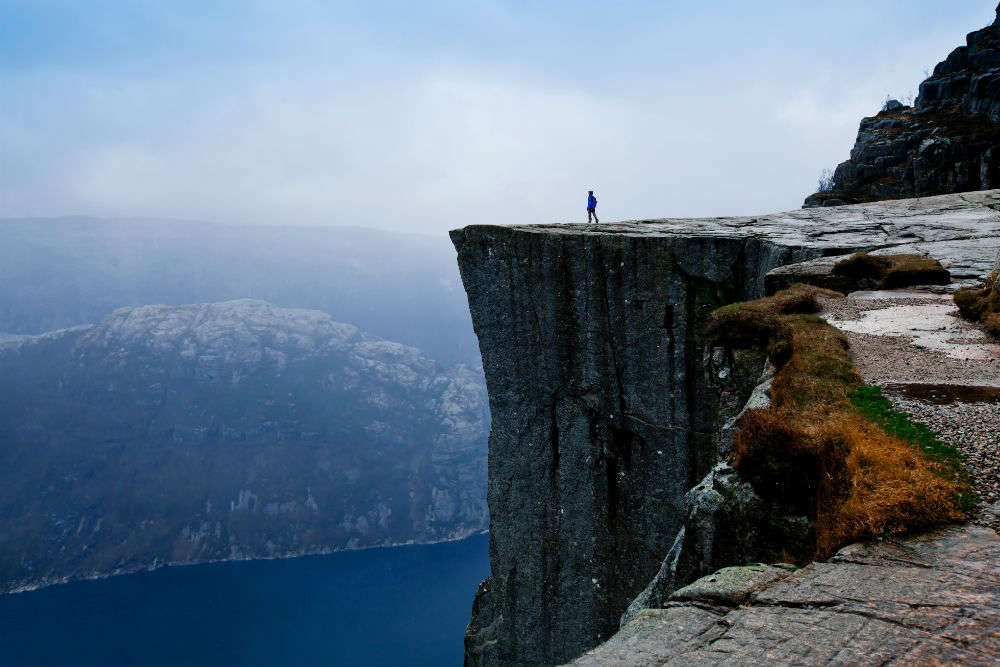 Dare to stay at a boutique hotel located at the edge of a mountain cliff in Norway?