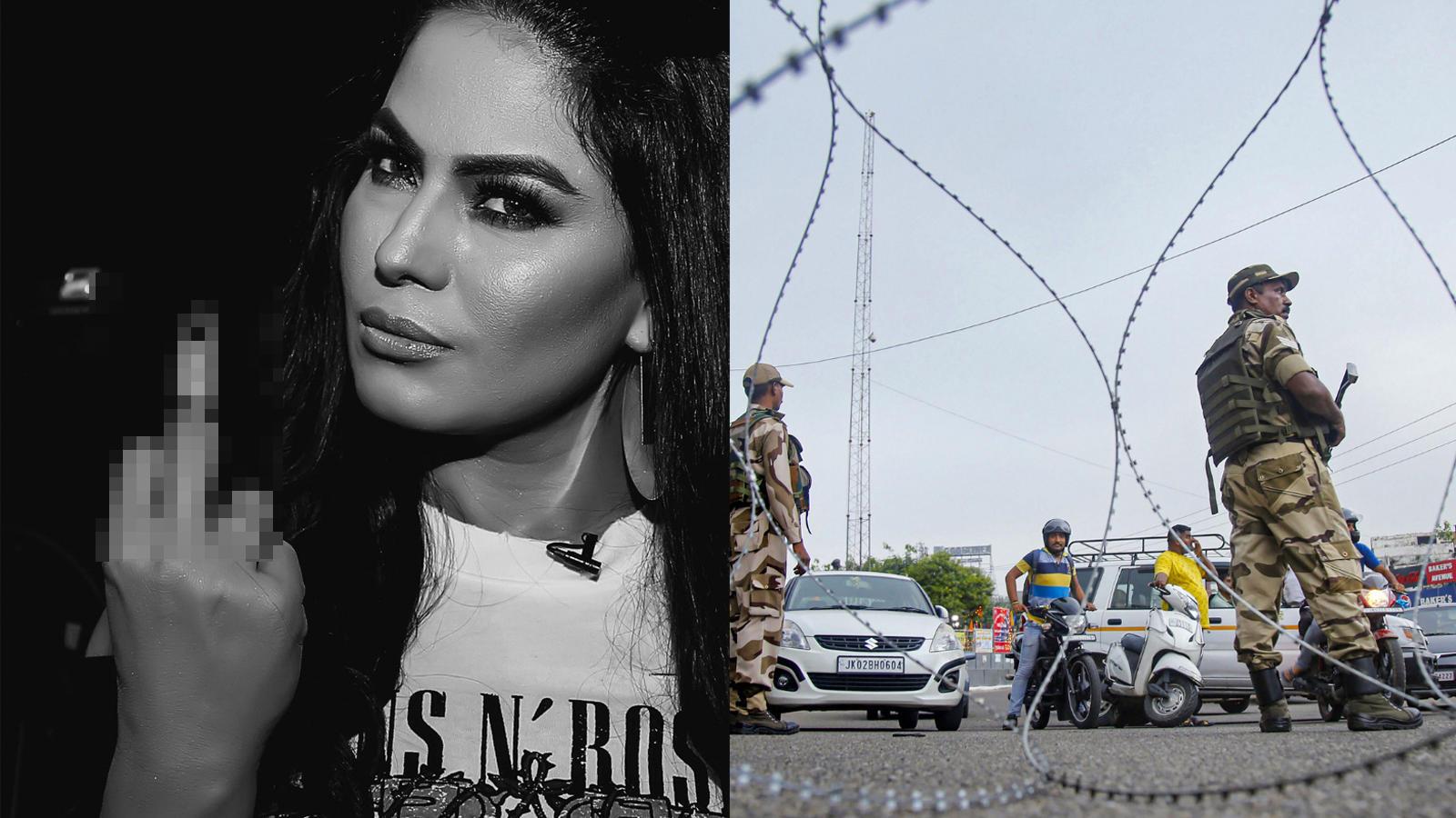 Article 370: Netizens slam Pakistani actress Veena Malik for disrespecting  Indian Army