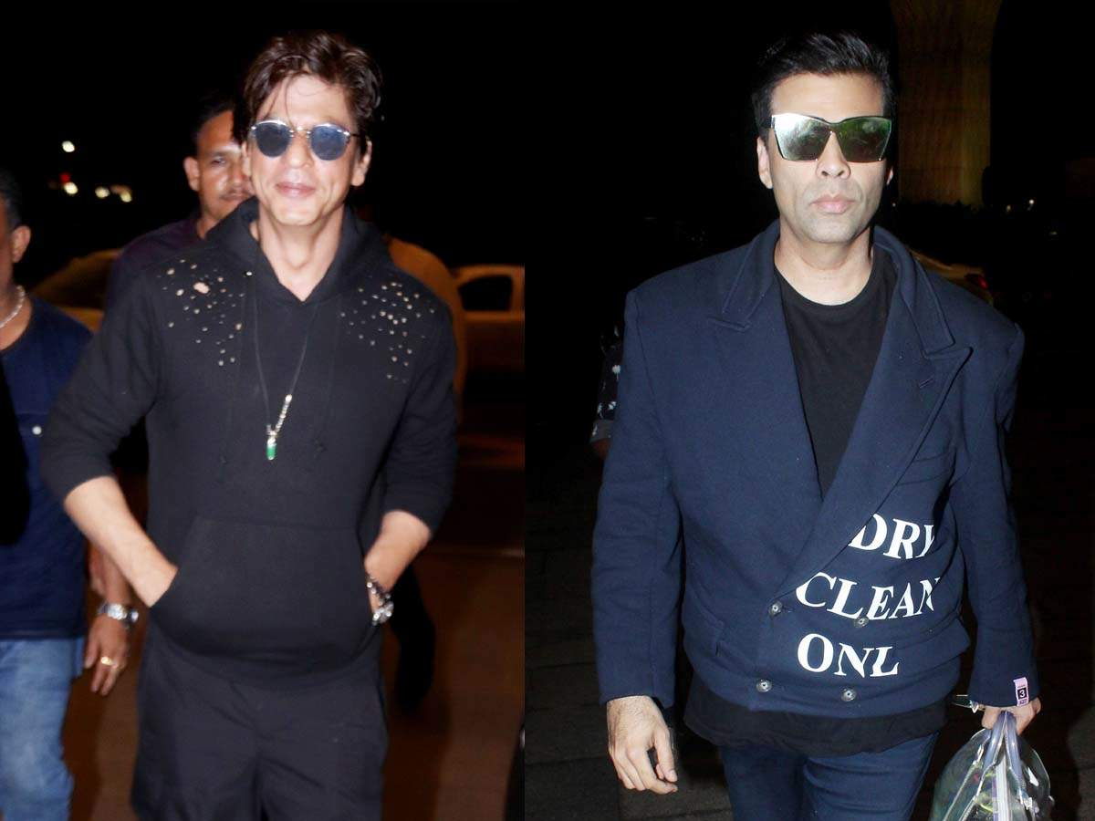 Shah Rukh Khan and Karan Johar snapped as they leave for Australia