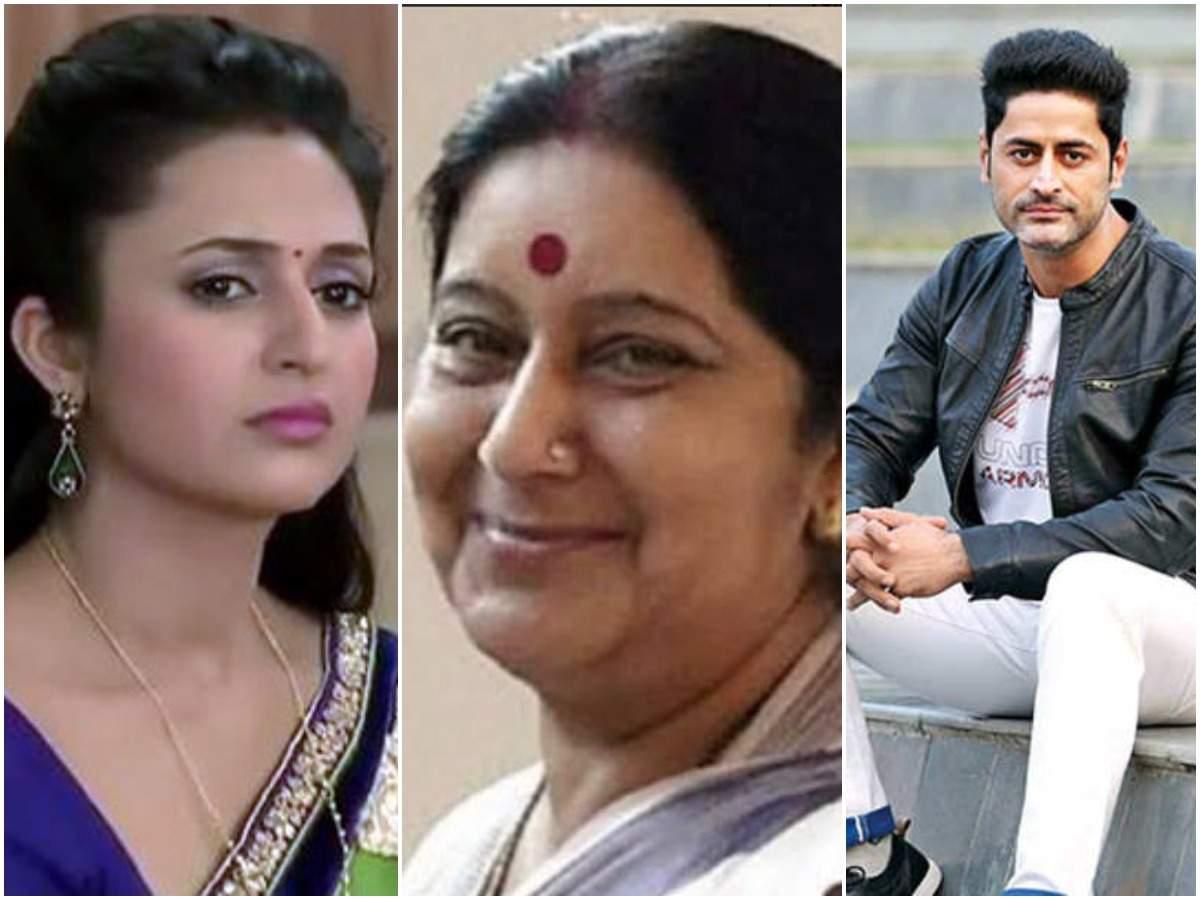 Sushma Swaraj passes away at 67, Divyanka Tripathi, Mohit Raina