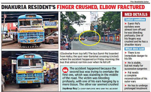 Kolkata man cheats death, but almost loses ears in footboard