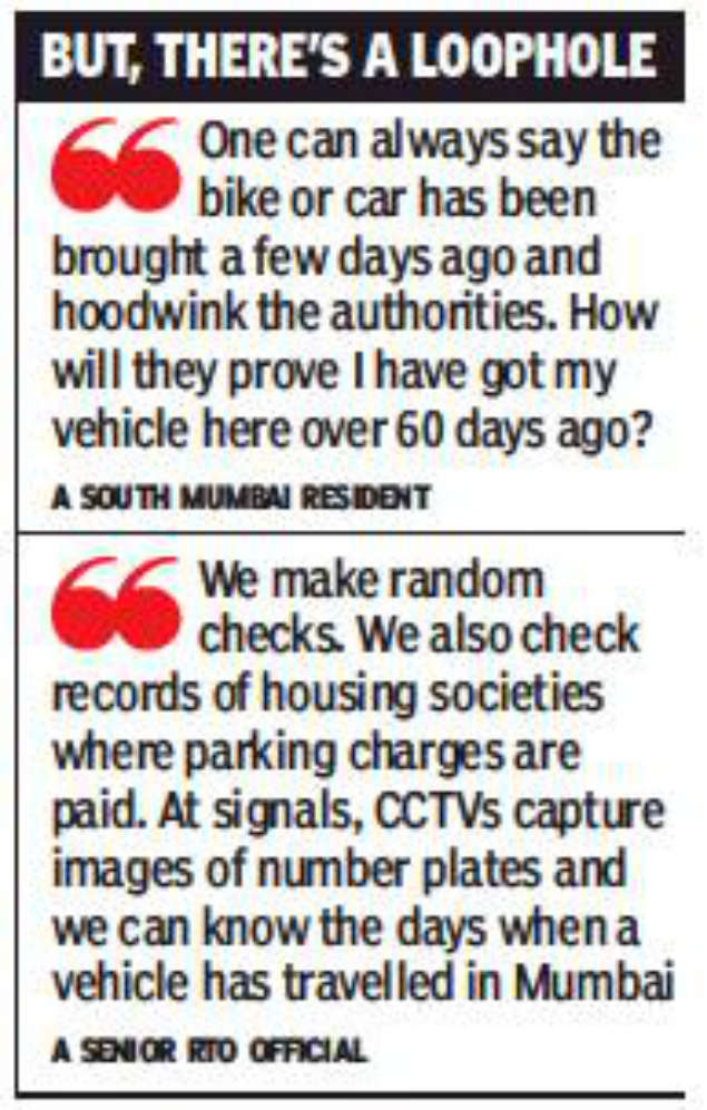 Transit period for vehicles from outside Maharashtra is now 60 days
