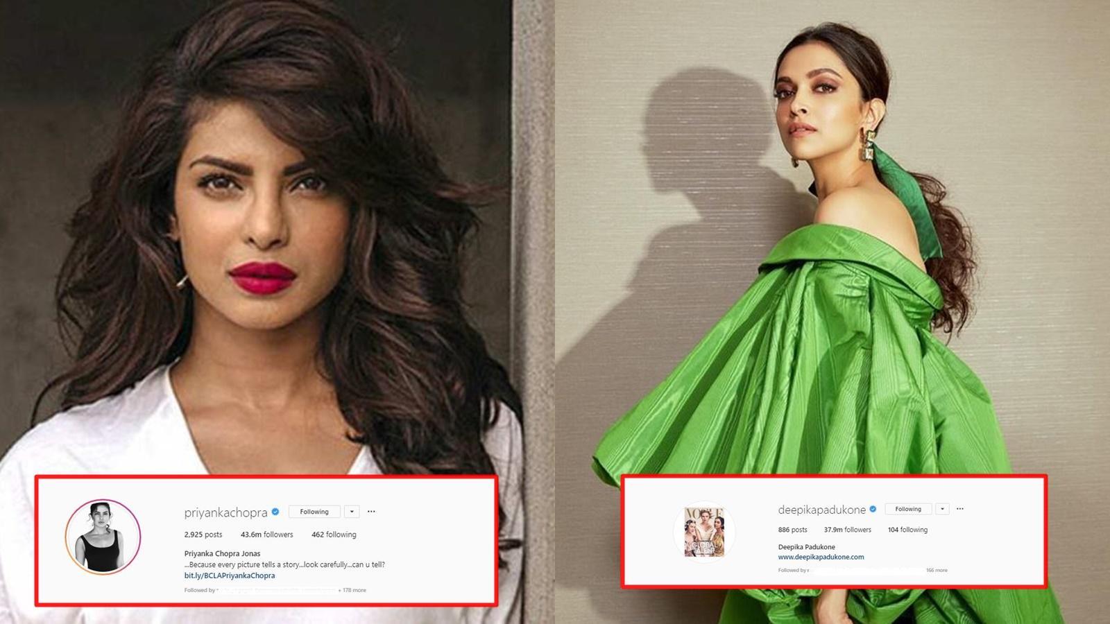 Deepika Padukone, Priyanka Chopra among top celebrities with high fake  Instagram followers