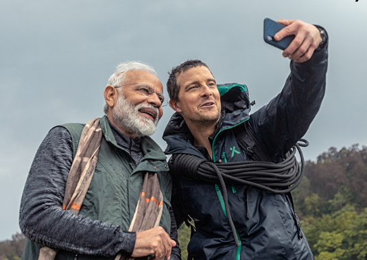Man vs Wild: PM Modi with Bear Grylls in 'Man Vs Wild' tonight | India News  - Times of India