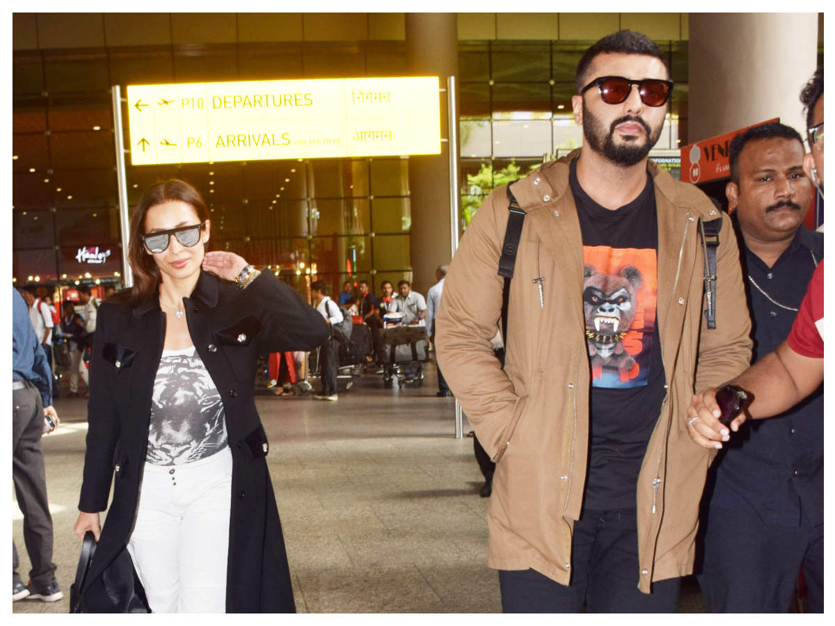 Photos: Lovebirds Arjun Kapoor and Malaika Arora are back to the bay