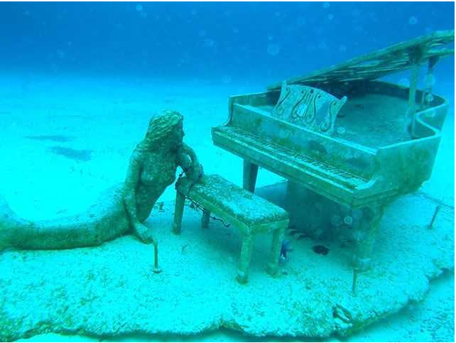 Bahamas' tale of underwater mermaid and the grand piano