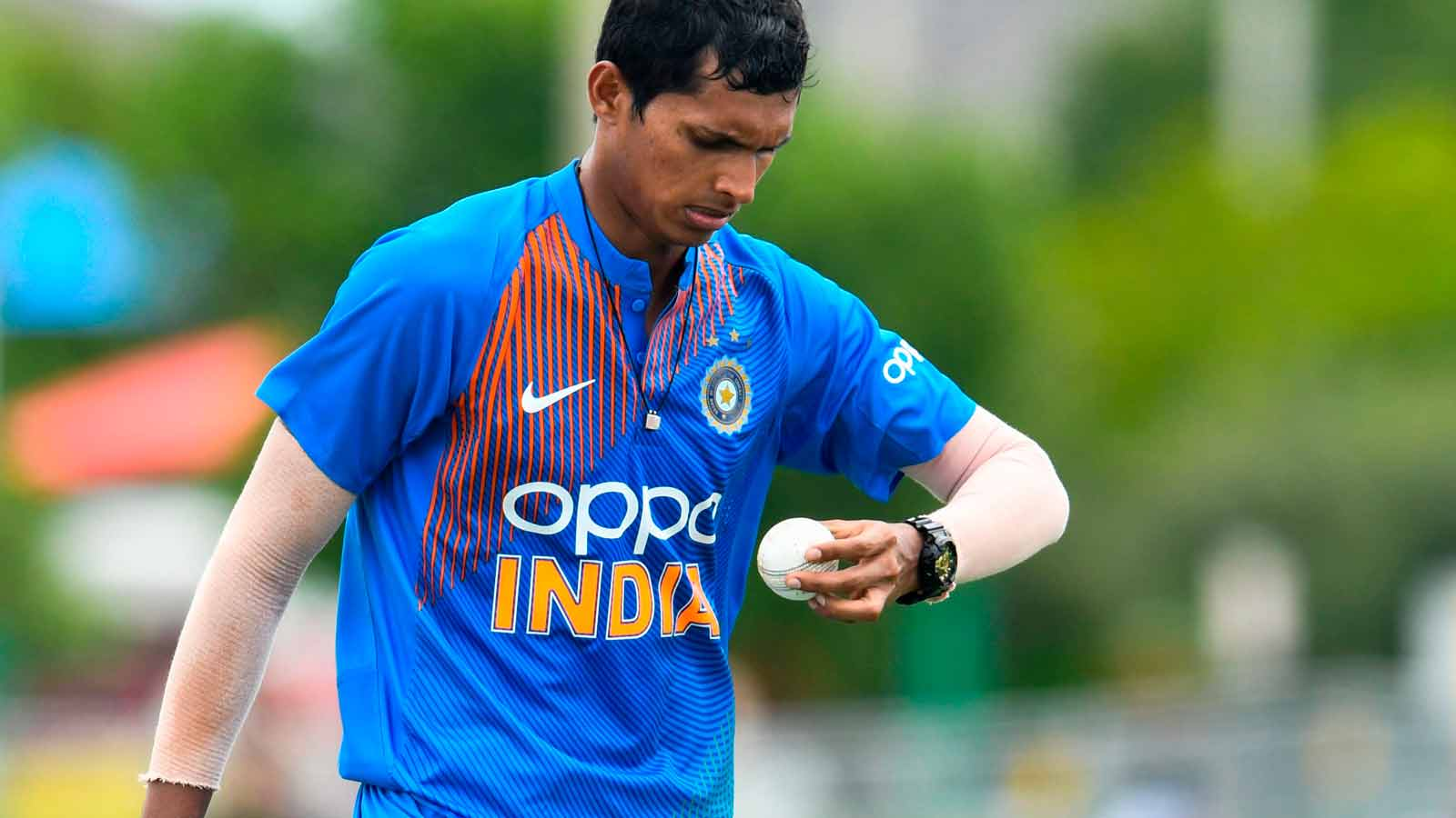 indian-team-management-decides-to-keep-speedster-navdeep-saini-as-cover-for-test-series-against-west-indies
