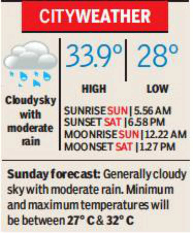 Delhi: Expect dip in temperature with light rain over two