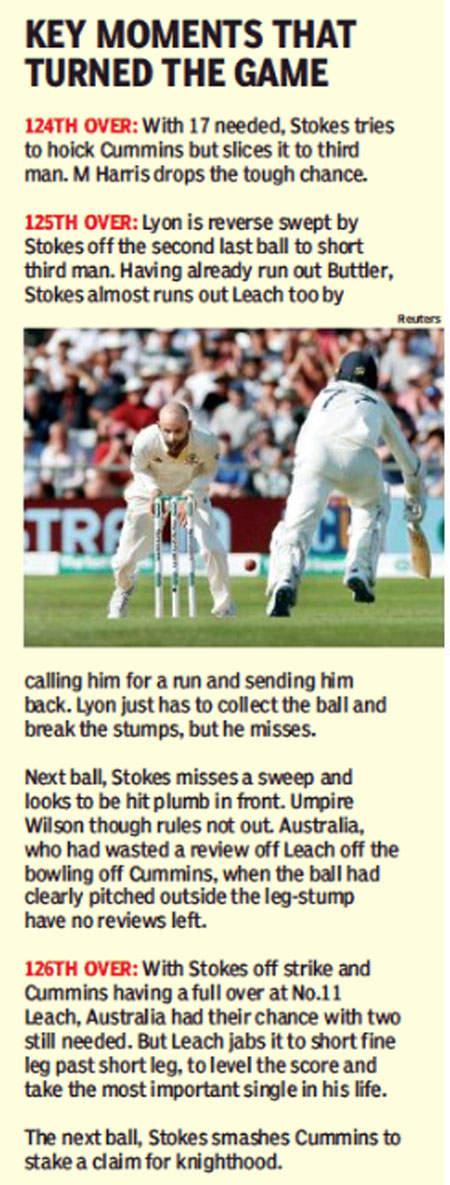 Australia vs England: Ben Stokes Superb century levels Ashes