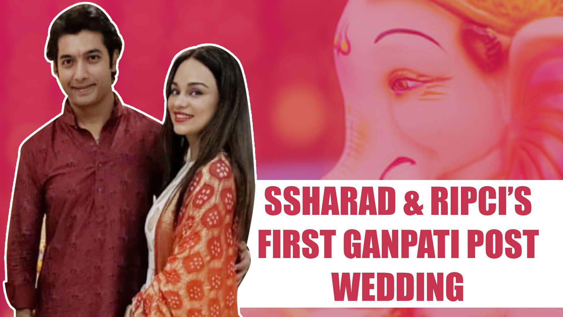 Ssharad Malhotra celebrates his first Ganpati post wedding with wife Ripci  Bhatia