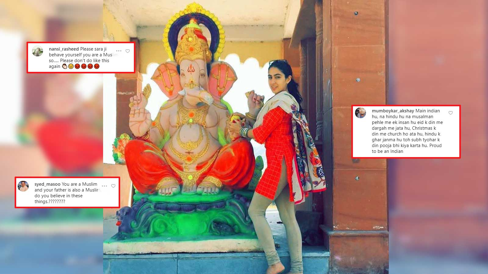 Image result for sara with ganesh idol