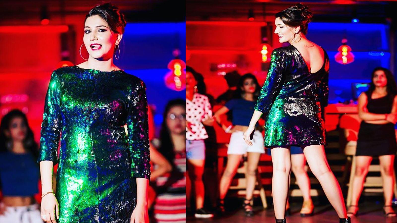 Haryanvi sensation Sapna Choudhary looks gorgeous in this bodycon dress!
