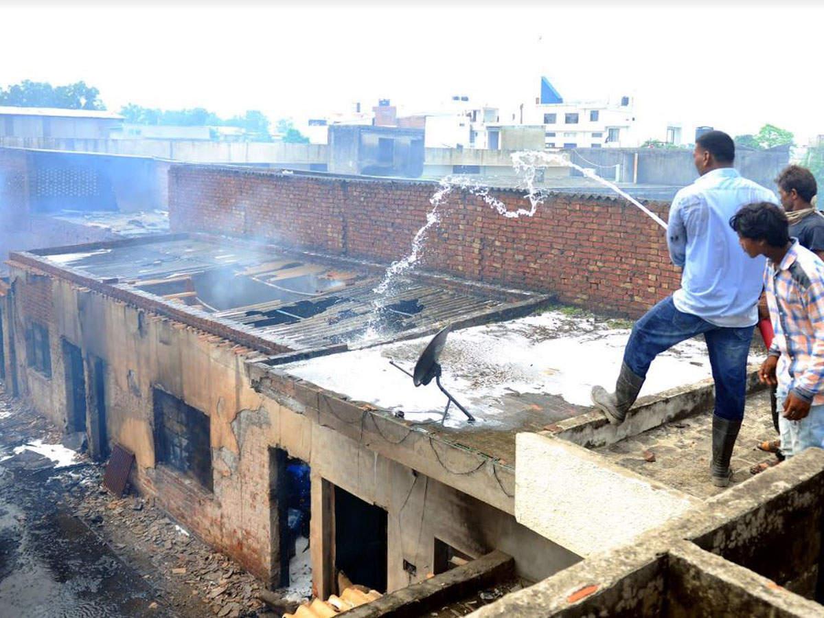 fire destroys chemical factory: Punjab: Massive fire