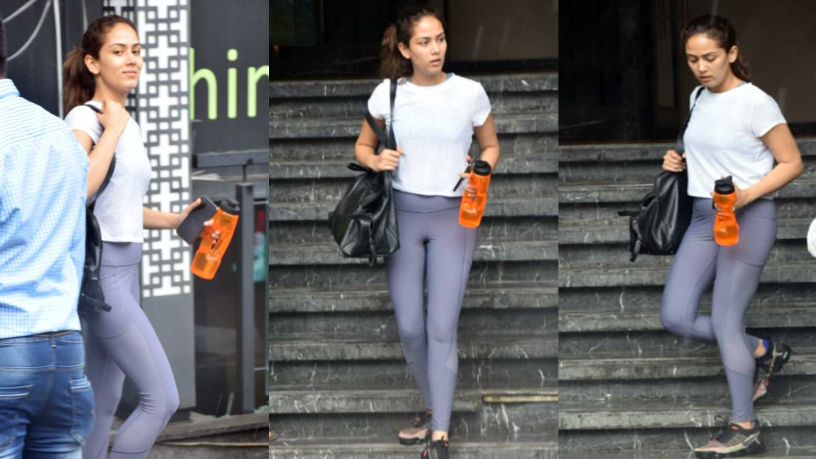Mira Rajput rocks her casual gym avatar on a rainy day