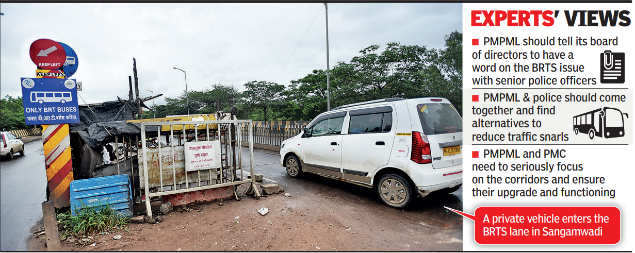 Pune: BRTS corridor confusion continues | Pune News - Times