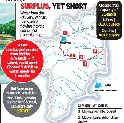Monday's outflow from Mettur can quench Chennai's thirst for
