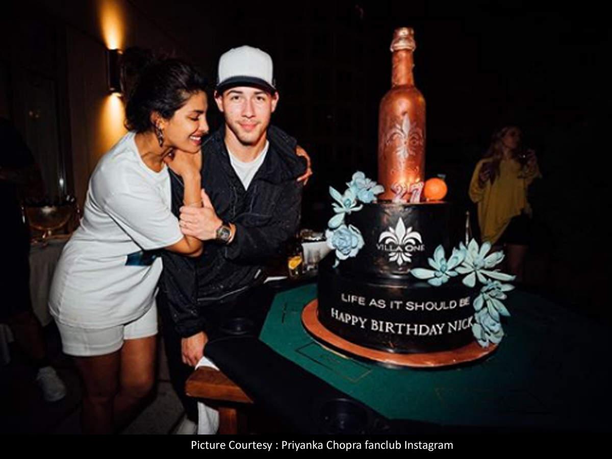Pleasant Priyanka Chopras Gigantic Birthday Surprise For Hubby Nick Jonas Personalised Birthday Cards Veneteletsinfo