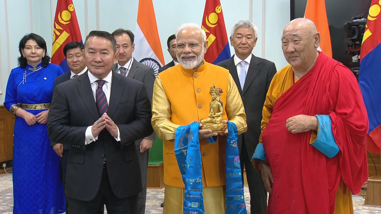 pm-modi-mongolian-president-unveil-lord-buddha-statue-in-mongolia-via-video-conferencing-in-delhi