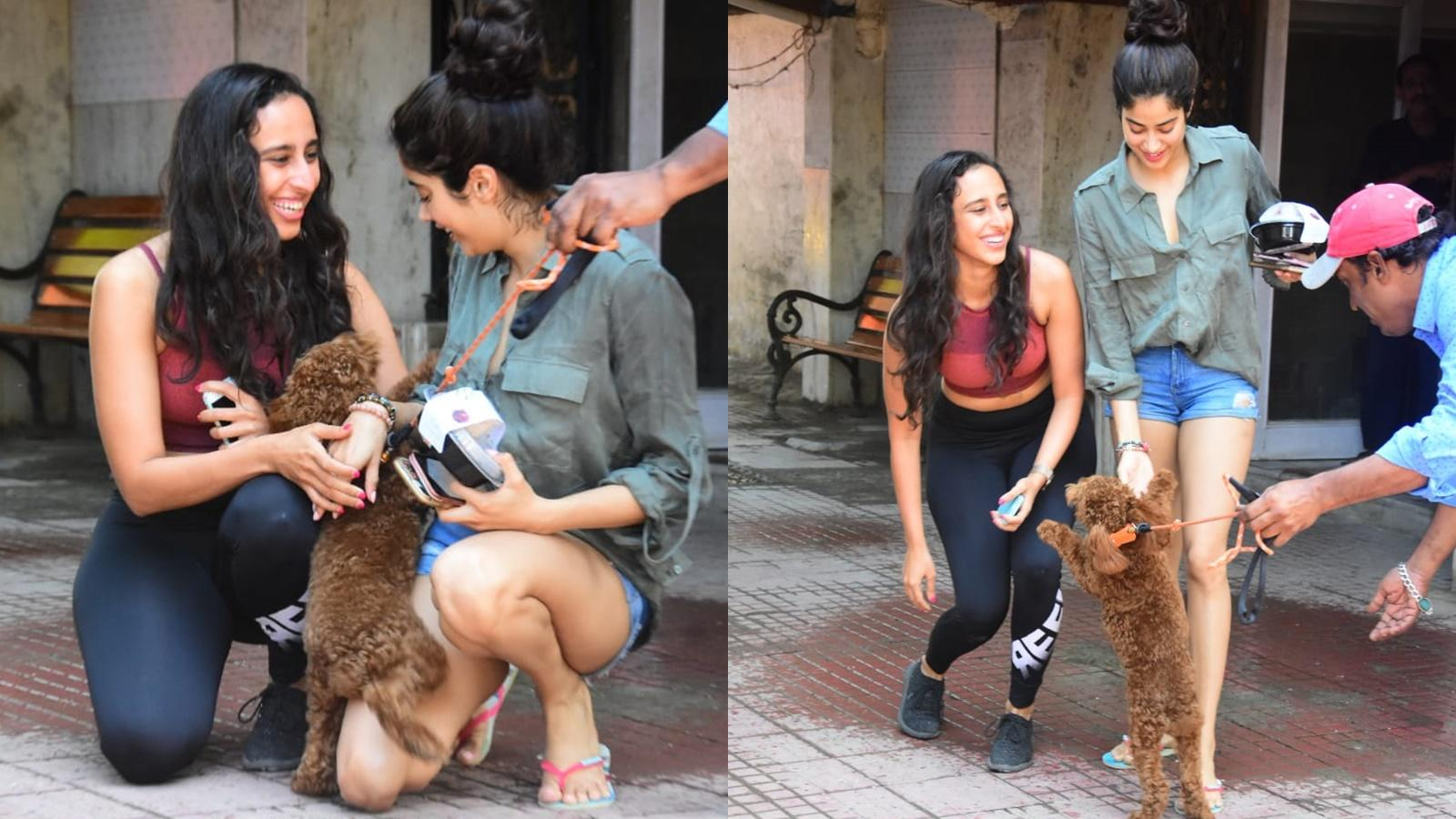 janhvi-kapoor-playing-with-a-dog-is-too-cute-to-miss