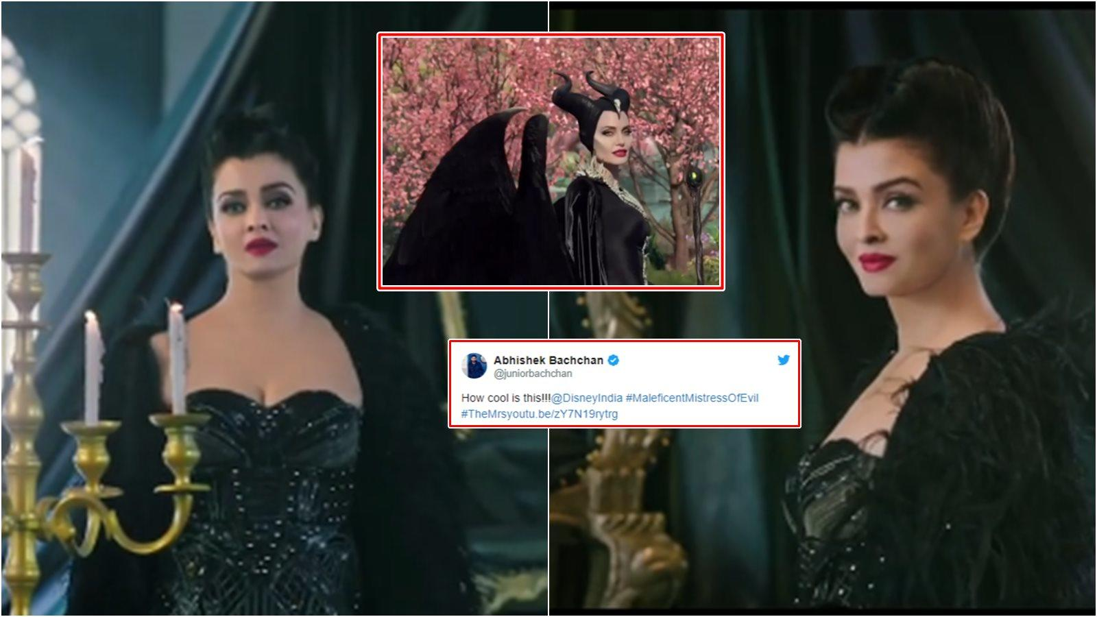 Abhishek Bachchan Is In Awe Of Wifey Aishwarya Rai Bachchan S Transformation In Maleficent Mistress Of Evil Hindi Trailer