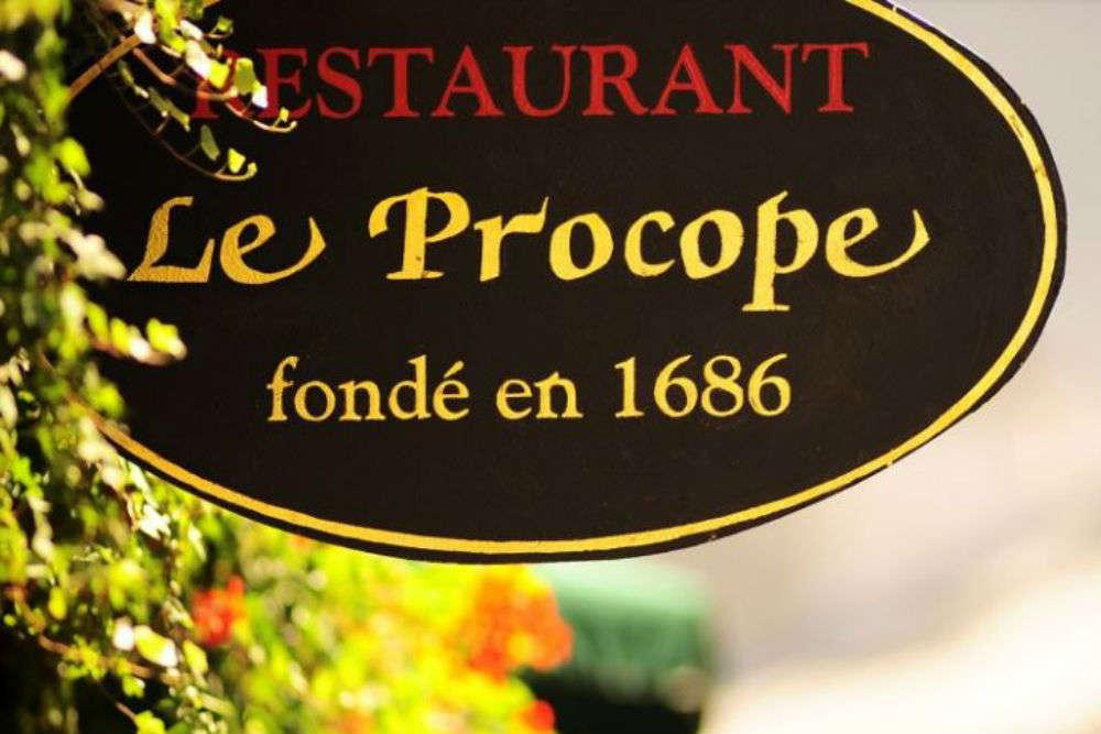 Inside Café Le Procope, Paris' oldest cafe