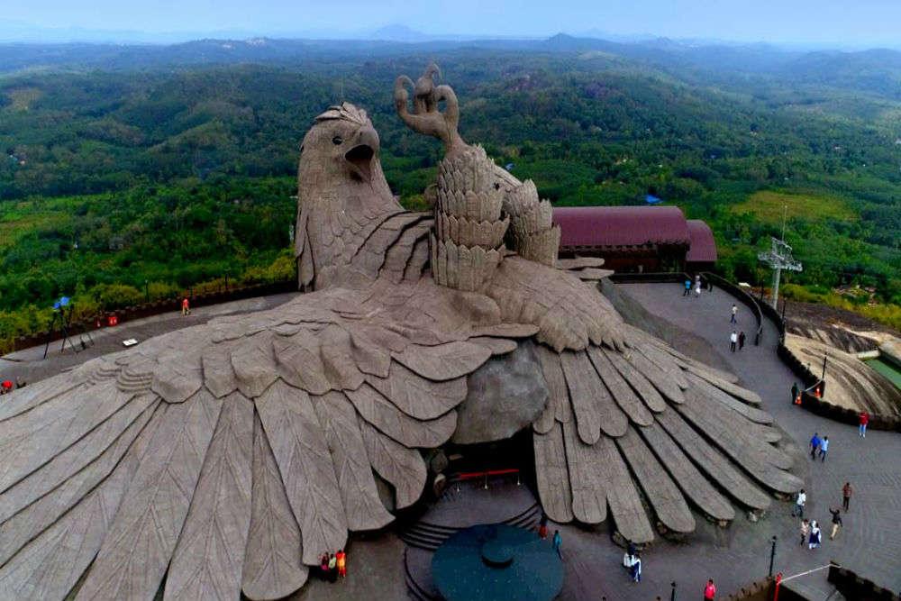 Jatayu Adventure Centre in Kerala has the world's largest bird sculpture