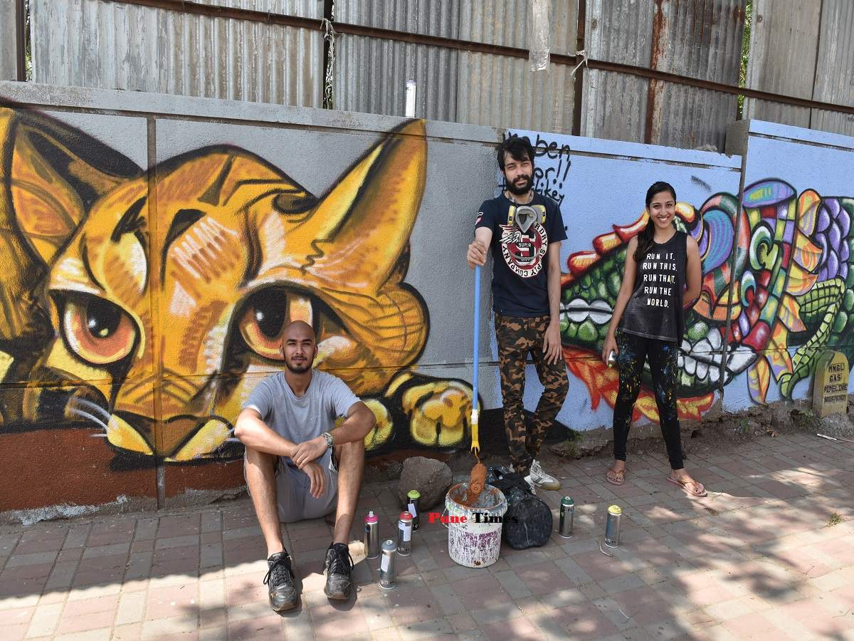 Paintpuneproject This Graffiti Artist Is On A Mission To Beautify 100 Walls In The City Times Of India