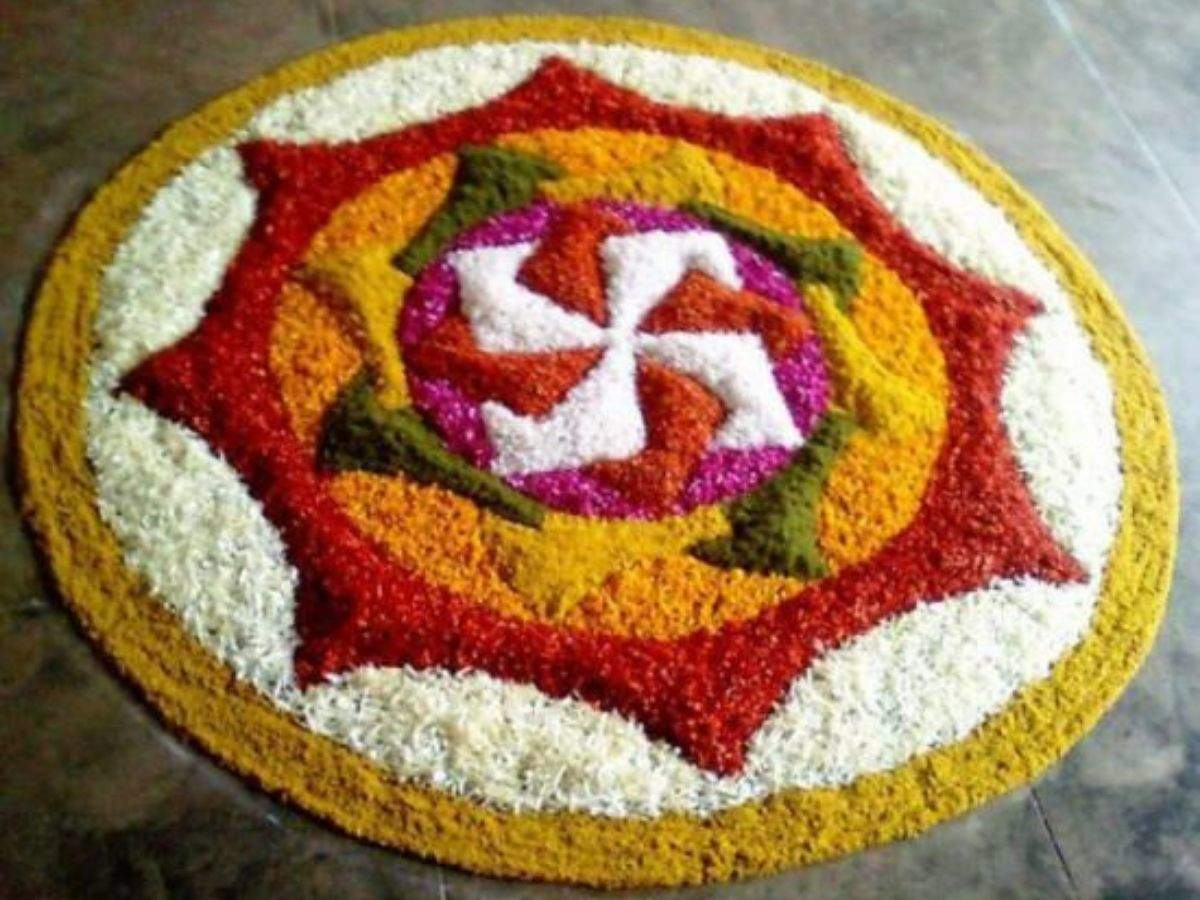 Image result for flower Rangoli designs to try this Diwali