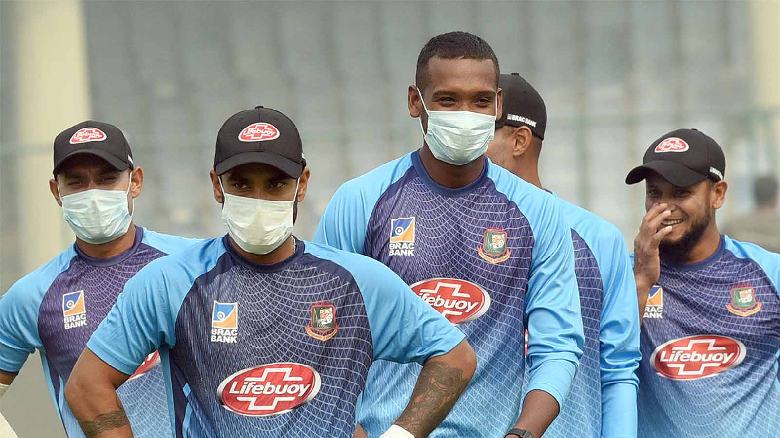 1st-t20i-bangladesh-cricketers-wear-pollution-mask-during-practice-session-in-delhi