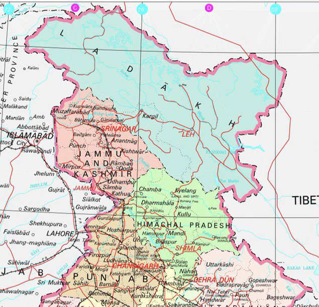Govt releases new political map of India showing UTs of J&K ...