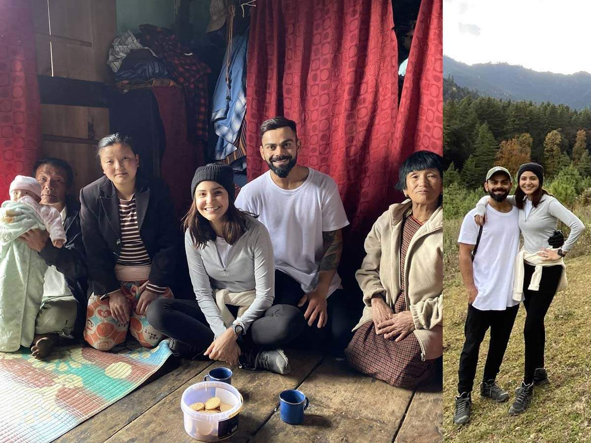 Family Treats Anushka Sharma And Virat Kohli As Trekkers And