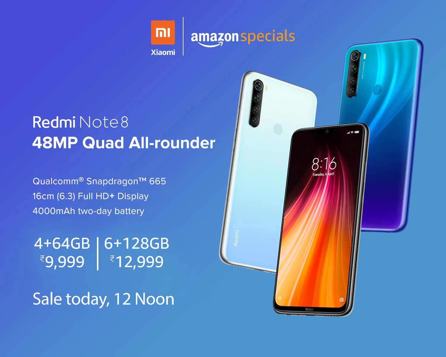 Redmi Note 8 Goes Sale On Amazon Features And Price In India Most Searched Products Times Of India
