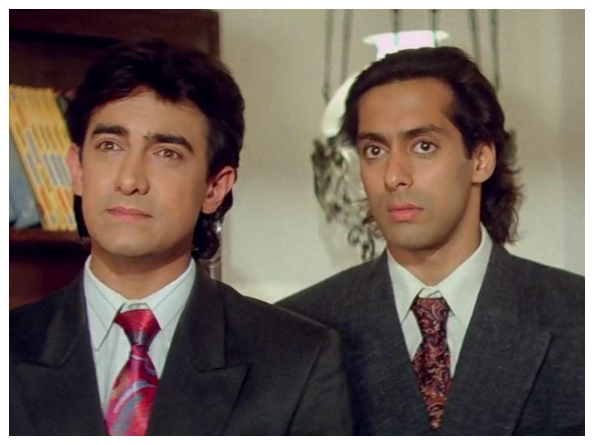 Did you know that Salman Khan was not in talking terms with Aamir Khan  during 'Andaz Apna Apna'? | Hindi Movie News - Times of India