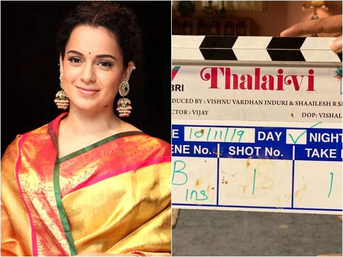 Kangana Ranaut starrer Jayalalitha biopic titled 'Thalaivi' starts ...