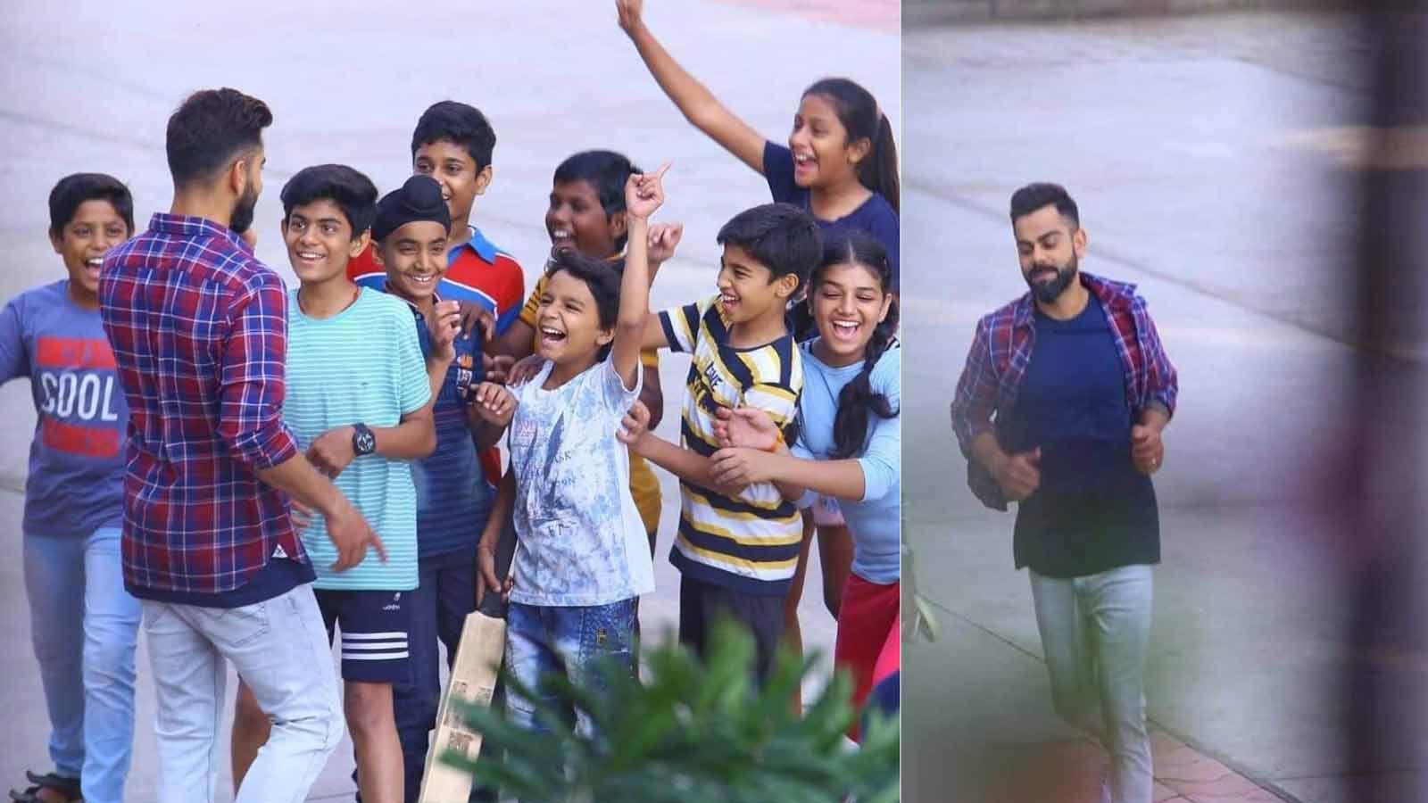watch-virat-kohli-spotted-playing-gully-cricket-with-kids