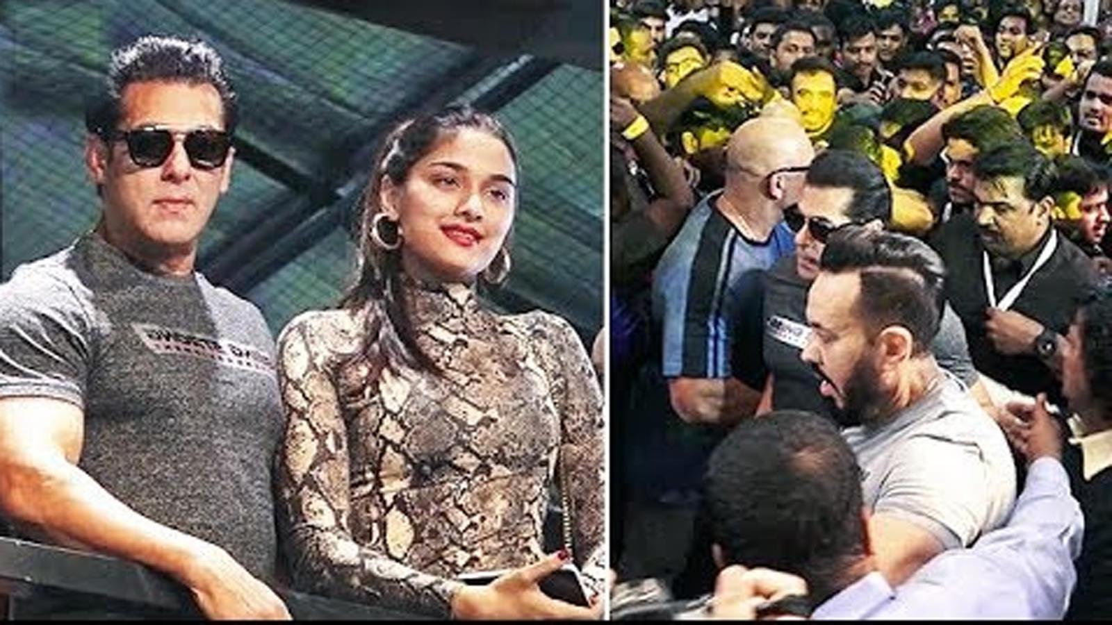 salman-khan-and-saiee-manjrekar-mobbed-by-unruly-crowd