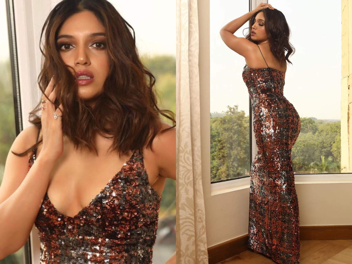 Bhumi Pednekar sizzles in a shimmery dress and internet is ...