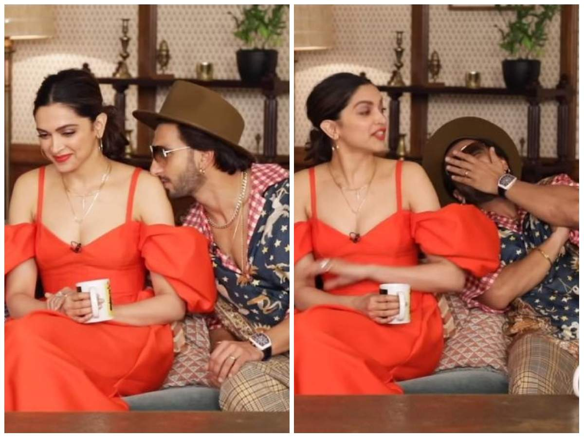 This Picture Of Ranveer Singh Kissing Deepika Padukone Will Make You Go Aww Hindi Movie News Times Of India