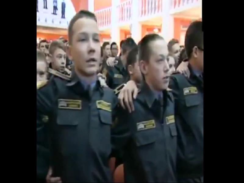 Russian Cadets Sing Patriotic  'aye Watan' From 'shaheed' | Hindi Movie News