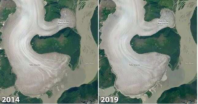 Taku Glacier, one of world's thickest alpine glaciers, has started melting