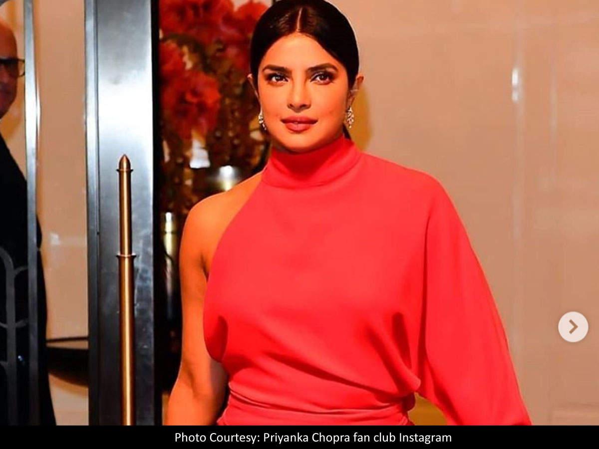 Photos: Priyanka Chopra Rocks A Fiery Red Gown As She Is Honoured With A Humanitarian Award At Unicef Snowflake Ball | Hindi Movie News