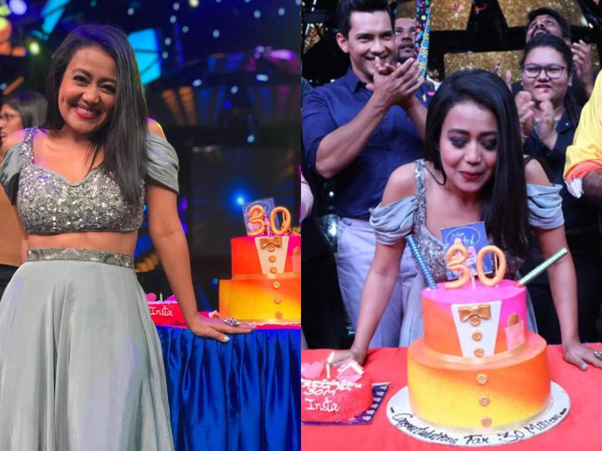 Indian Idol 11 Judge Neha Kakkar Completes 30 Million On Instagram Celebrates On The Sets Times Of India