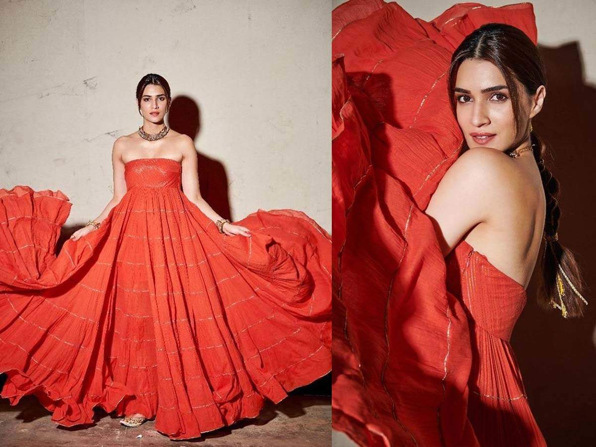 Kriti Sanon Looks Absolutely Stunning In An Orange Ensemble; Check Out The Pictures Here | Hindi Movie News
